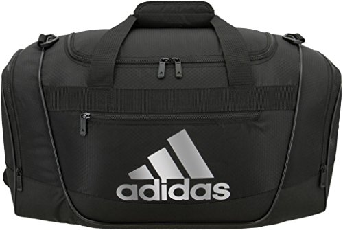 adidas Women's Defender III small duffel Bag, Black/Silver, One Size
