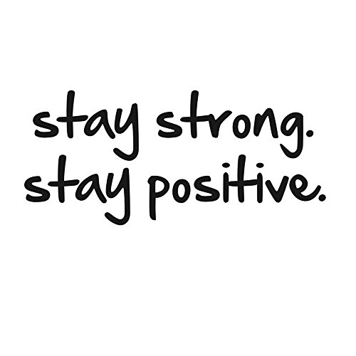 TOARTi Stay Strong Stay Positive Quote Mirror Decal Quotes Vinyl Wall Decals -