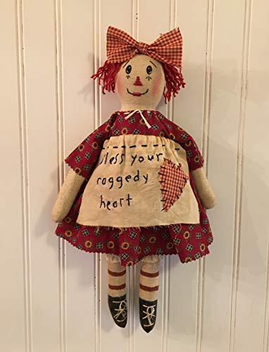 (Primitive Folk Art Raggedy Ann Rag Doll)