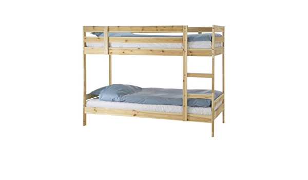 Amazon Com Ikea Twin Size Bunk Bed Frame Pine 1026 2814 124 Kitchen Dining