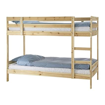 Amazon.com: Ikea Twin size Bunk Bed frame, pine 1026.2814.124 ...