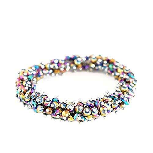 Jewelry11® Women's Fashion Rainbow Ab Glass Crystal Seed Beads Stretch Bracelet Gift For Her