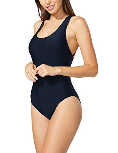 Baleaf Women's Underwire One Piece Swimsuits Bathing Suits Sexy Monokini Navy - One Swimsuit Underwire Piece