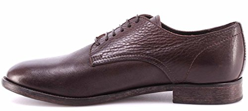 Zapatos Hombre MOMA 51603-Y2 Business Derby Leather Yak Ebony Vintage Made Italy