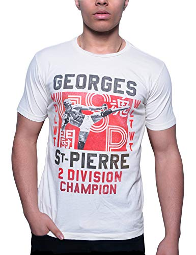 - Roots of Fight Officially Licensed Men's Georges St. Pierre GSP Division Champ Photo Tee Shirt, Size Large