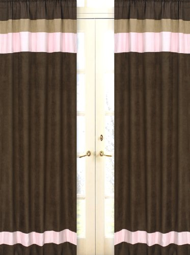 Soho Pink Window Treatment Panels - Set of 2