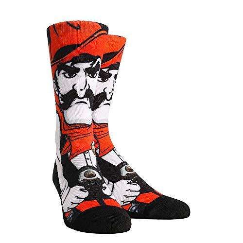 (NCAA Super Premium College Fan Socks (L/XL, Oklahoma State Cowboys - Mascot Pistol Pete))