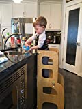 Convertible Learning Tower, Convertible Helper tower, Montessori learning stool, Kitchen Step Stool, Kitchen Helper