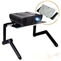 QuickLift LCD / DLP Projector Stand DJ Presentation Mount with Vented Aluminum Alloy Surface and Adjustable Height / Angle