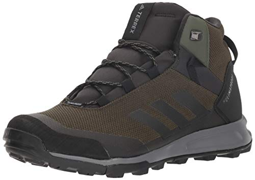 - adidas outdoor Men's Terrex Tivid MID CP, Night Cargo/Black/Grey Four, 12 D US