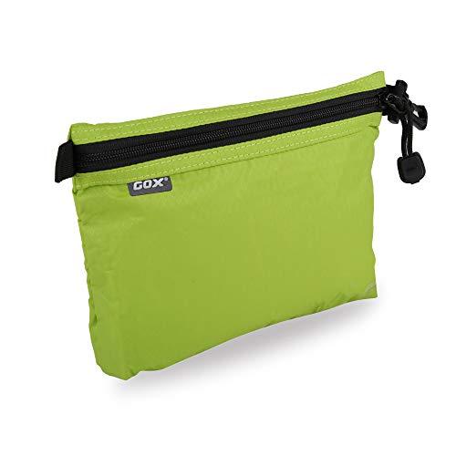GOX Ultra Light Carry On Zipper Pouch Toiletry Bag Packing Sack Makeup Bag Digital bag (Green)