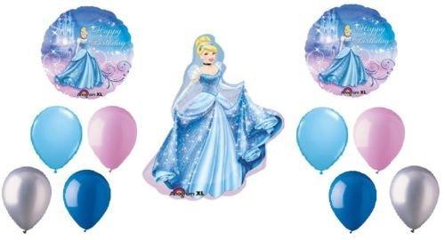 loonballoonシンデレラディズニープリンセス11誕生日パーティーマイラー&ラテックスバルーンブーケセット   B01FTXNE1O
