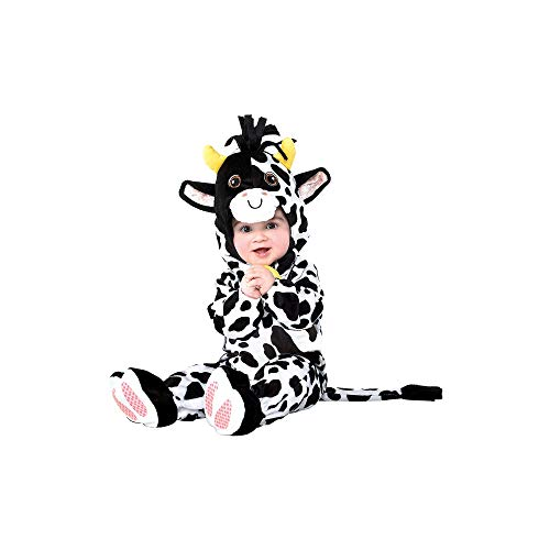 Cow Halloween Costume for Infants, 12-24 Months, with Attached Hood, by Amscan
