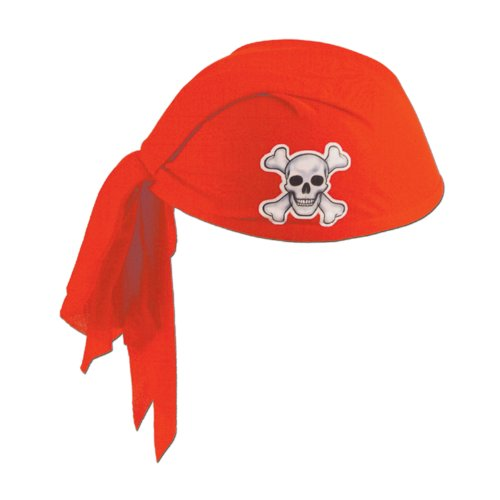[Beistle 60752-R Pirate Scarf Hat, 12 Per Package] (Scarf Halloween Costumes)
