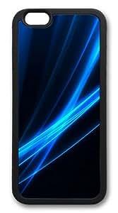 Blue light Custom iPhone 6 Case Cover TPU Black