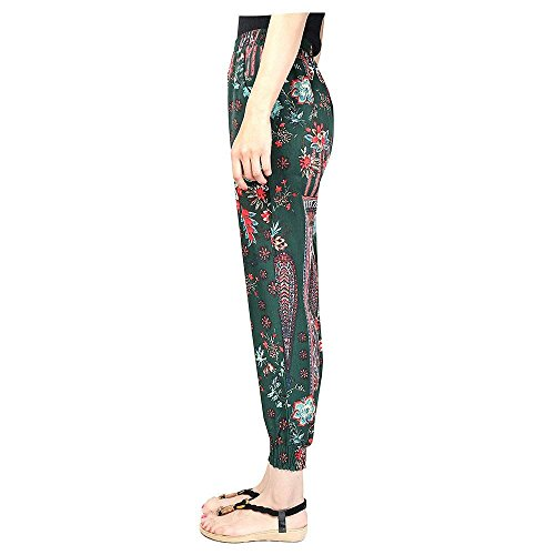 Eleganti Colore Fiore Estivi Boho Harem Ragazza 1 Accogliente Libero Stampa Tempo Spiaggia High Waist Basic Donna Pluderhose Sciolto Fashion Vintage Pantaloni 6aFwqtH