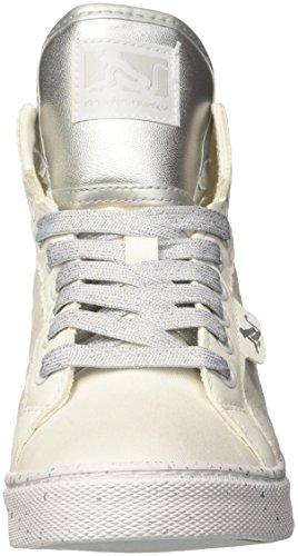 Blanco Altas Para white 088 Zapatillas Raw Mujer Boston Drunknmunky silver qtaYHH