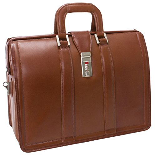 Series Morgan Leather (McKleinUSA MORGAN 83344 Brown 17 Litigator Laptop Brief)