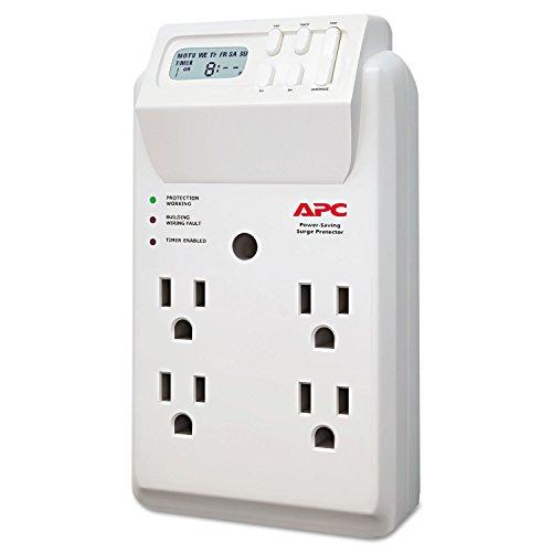 (APC P4GC SurgeArrest Surge Protector, 4 Outlets, 1020 Joules, White)