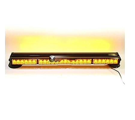 DOUBLE SIDE 252W LED WORK LIGHT BAR BEACON WARNING STROBE LIGHTS AMBER 1050MM