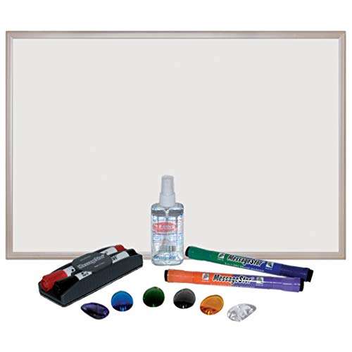 ECR4Kids MessageStor Dry Erase Bulletin Board Set with Pens and Dry Erase Cleaner, 24