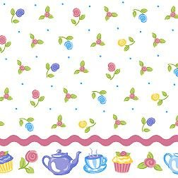 Pillowcase River Dan - Olive Kids 4-piece Tea Party Full Sheet Set