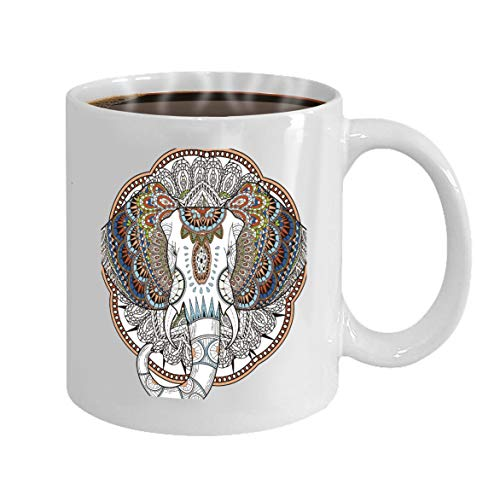 Funny Gifts for Halloween Party Gift Coffee Mug Tea graceful elephant coloring page exquisite style Lif
