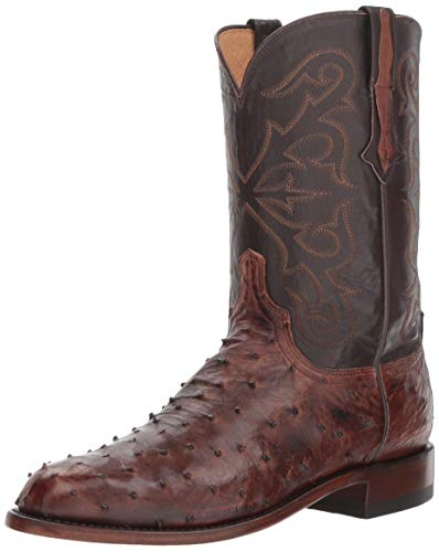 Lucchese Bootmaker Men's Hudson Western Boot, Antique Chocolate, 9 D US