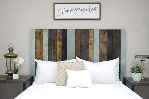 All Terrain Mix Headboard Queen Size, Leaner Style, Handcrafted. Leans on Wall. Easy Installation.