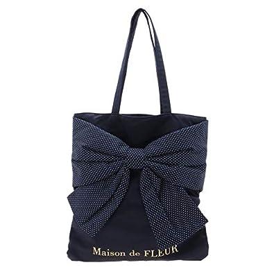 391b4c7c65e0 Amazon | メゾン ド フルール(Maison de FLEUR) ・ドットリボントート ...
