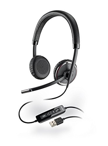 Plantronics Blackwire Stereo Over-the-head Lightweight Noise-canceling Hands-free PC USB Headset with Comfort Fit Wideband Headband Smart Sensor Technology & In-line Call & Volume Controls For Microsoft Office Communicator ()