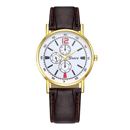 XBKPLO Watches Fashion High-end Blue Glass Temperament Ladies Fine Quartz Analog Wrist Watch Leather Strap Bracelet Jewelry Gift by XBKPLO (Image #1)