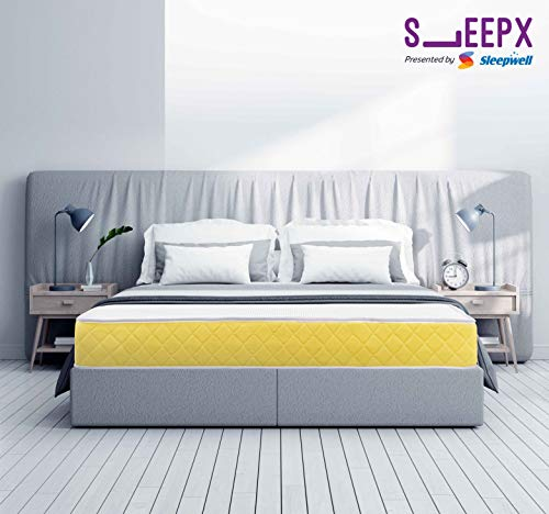 SleepX Presented by Sleepwell Urbain Memory Foam Mattress - (78x60x7 Inches) with Free Pillows