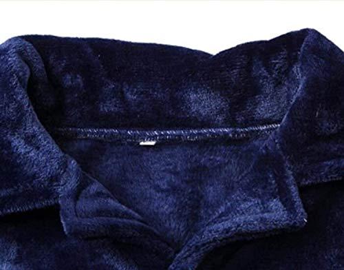 E Moda Ropa Solapa Dos Servicio Hombre Cálidos Trajes Dormir Brown3 Invierno Cachemira Casa Para Pijamas De Largo Coral Otoño Gruesos IzCxgwq6