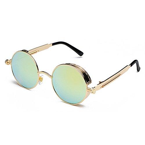 Cadre en métal avec revêtement Lunettes de soleil, Bleu