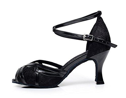 Mujeres La Zapatos Correa De Sandalias De Salsa Jazz Samba del 5 Black Las Tacones UK2 La Altos De JSHOE De Baile Cruzada heeled8cm Modern Hebilla Tango Zapatos Metal De Our33 EU32 La De dIUwvq6