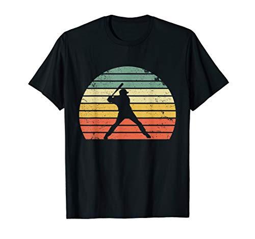(Vintage Baseball Shirt Batter Swinging Retro Sunset T-Shirt)