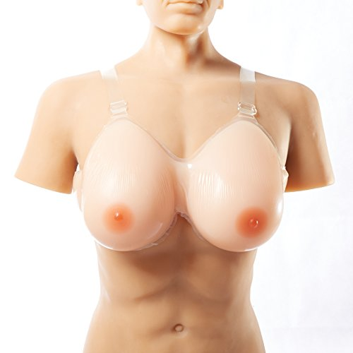 Ajusen 男の娘 偽胸 乳輪 おっぱい 高品質 シリコン バスト偽胸 CD 変装 変性 人工乳房 フィット感 抜群 (5XL/1800g)