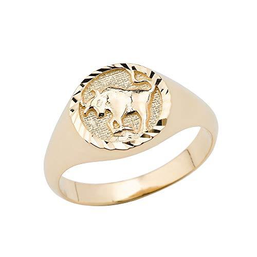 10K Taurus Yellow Gold Zodiac Ring Size 14 ()