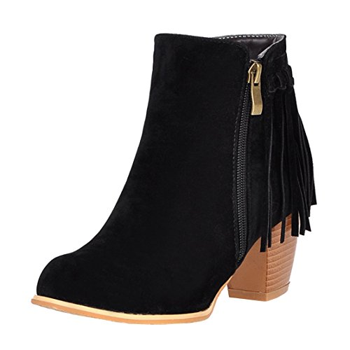 AIYOUMEI Women's Classic Boot Black