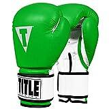 Title Boxing Premier Leather Super Bag Gloves 2.0, Green/White, Medium