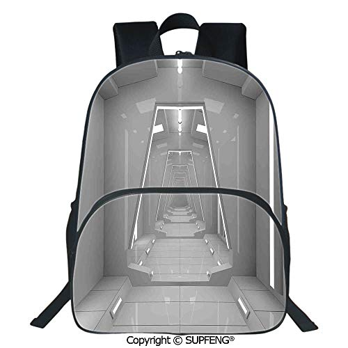 SCOXIXI Laptop Backpack Satellite Scenery Cosmos Space Style Extended Universe Design Artwork (15.75