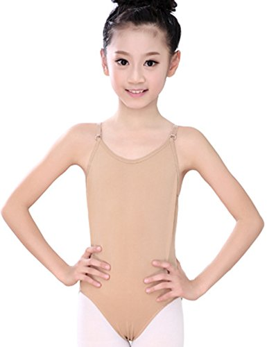 Astage Girl Ballet Dance Undergarment Nude colored Sleeveless Tights (Nude Colored Leotard)