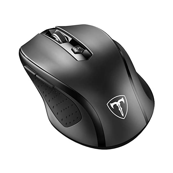 VicTsing MM057 2.4G Wireless Portable Mobile Mouse Optical Mice with USB Receiver, 5 Adjustable DPI Levels, 6 Buttons for Notebook, PC, Laptop, Computer, MacBook 1