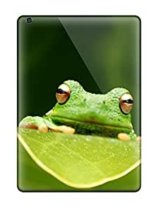 BsDyDRt471fbxDo Tpu Phone Case With Fashionable Look For Ipad Air - Frog Close-up