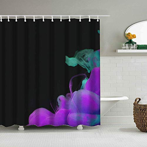 girlsight Decor Shower Curtain Colorful Bold Design, Fabric Bathroom Decor Set with Hooks 72