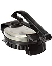 """Brentwood TS-127 Stainless Steel Non-Stick Electric Tortilla Maker, 8"""", Silver"""