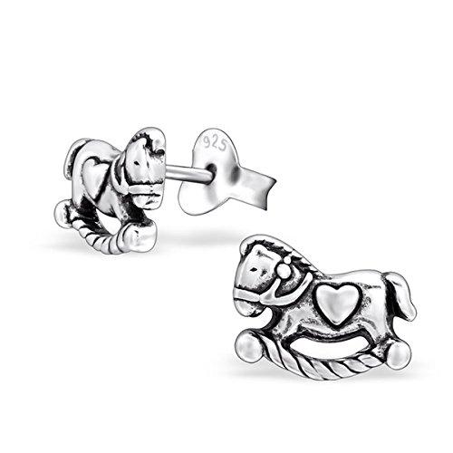 So Chic Bijoux © Boucles d'oreilles Cheval à Bascule Argent 925