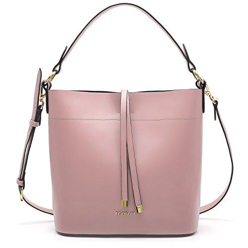 Pink Bucket Bag - ECOSUSI Bucket Bag Women Top Handle Handbags Satchel Purse Tote Bag Shoulder Bag, Pink