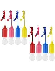 Kabeleinziehhilfe,Einziehfeder,4 STÜCKE Verschiedene Farben Batteriebetriebene LED Pull-Cord Dekorative Hängende Licht Für Garten Party Kleiderschrank Schrank BBQ Wandern Angeln
